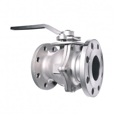 VTV 2pcs body ball valve, SS304, JIS 10K, 6""