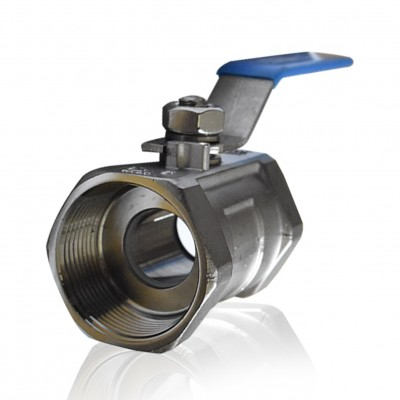 SANKYO 1 PC Body Ball Valve, SS316, Screw, 1/2""