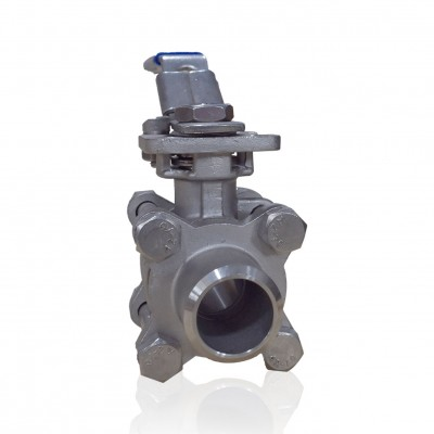 VTV 3 PC Body Ball Valve, SS316,Butt weld end to 1000 WOG, 1/2""