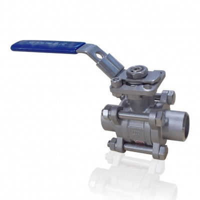VTV 3 PC Body Ball Valve, SS316, Socket weld end to 1000 WOG 0.5""