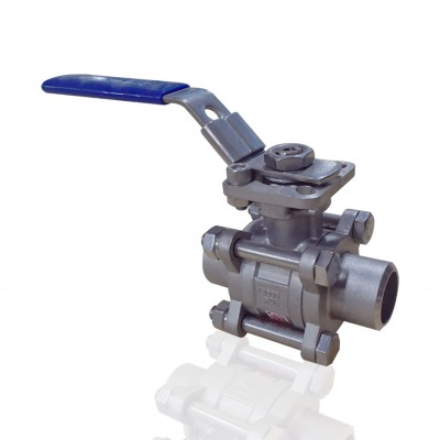 VTV 3 PC Body Ball Valve, SS316, Socket weld end to 1000 WOG 3/4""