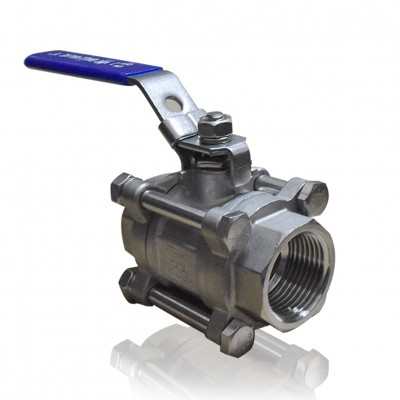 VTV 3 PC Body Ball Valve, SS316, Butt Weld end to 2000 WOG, 4""