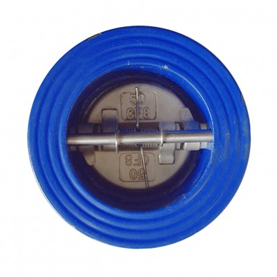 VTV Double Door Check Valve, Cast Iron, Viton Seat, JIS 10K, 12""