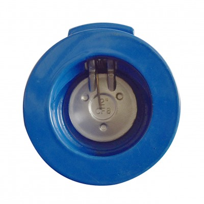 VTV Single Door Check Valve, Cast Iron, Viton Seat, JIS 10K, 8""