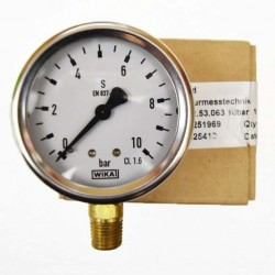 "WIKA Pressure Gauge 2-1/2"" (0 to 10 Bar) NPT"