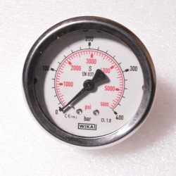 "WIKA Pressure Gauge 2-1/2"" (0 to 400bar) BSP Back"