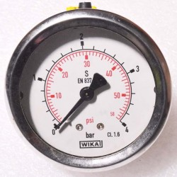 "WIKA Pressure Gauge 2-1/2"" (0 to 4bar) BSP Back"