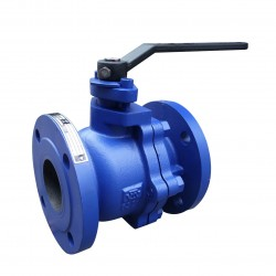 VTV 2pcs Body Ball Valve, Cast Iron, JIS 10K, 4""