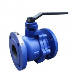 VTV 2pcs Body Ball Valve, Cast Iron, JIS 10K, 6""