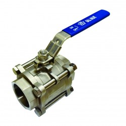 VTV 3pcs Body Ball Valve SS316 Screw End To 1000 WOG 2.5inch