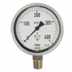 "WIKA Pressure Gauge 4"" ( 0 to 400 Mbar )"