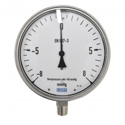 "WIKA Pressure Gauge 6"" ( -8 to 8 Mmhg )"